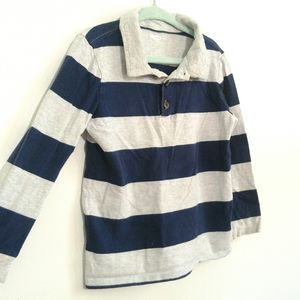 4T Old Navy Polo | Long sleeved | Navy & Grey
